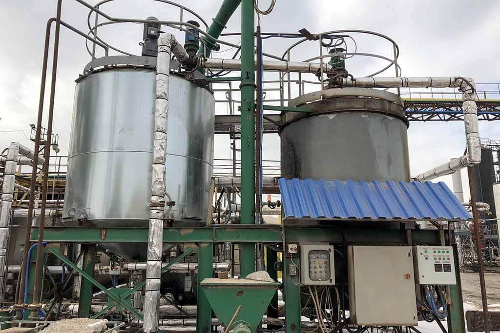 Модернизация и реконструкция оборудования по производству модифицированного битума (ПБВ), битумных эмульсий, маслонагревательных станций, ёмкостей и реакторов